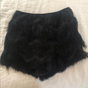 Black, Textured Shorts
